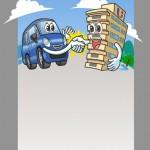 レンタカー関連リーフレット用イラスト