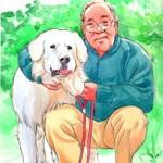 old man&dog