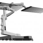 液晶パネル製作産業ロボット制作会社様ショールーム壁面イラスト