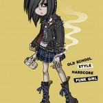 oldscool hardcore punk girl